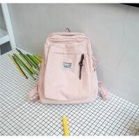 书包女韩版 高中学生背包街头潮流旅行包校园双肩包软