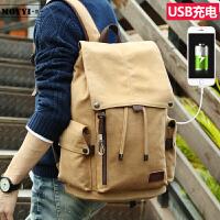 旅行背包男双肩包男时尚潮流青年男韩版电脑包初高中学生书包