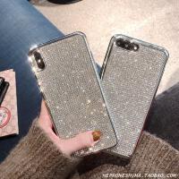 奢华满钻水钻8plus苹果X手机壳XS Max/XR/iPhone7/6s硅胶软套潮女 X/Xs 满钻 电镀银边