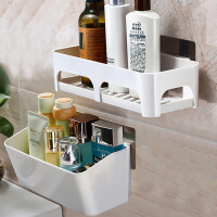 卫生间用品收纳架洗手间洗漱台吸盘浴室置物架厕所免打孔墙上壁挂