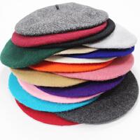 帽子女冬天韩国秋冬季可爱百搭羊毛贝雷帽女韩版潮英伦蓓蕾画家帽