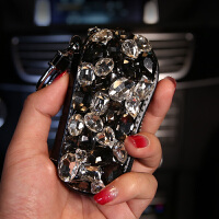 汽车车用钥匙包镶钻金属扣拉链女款时尚韩国可爱车载车钥匙保护套