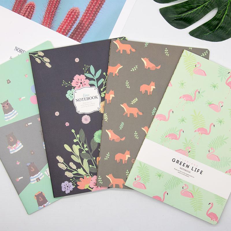少女风笔记本粉色物语幻想浪漫风记事本32kA5纸 4本装随机发少女风笔记本
