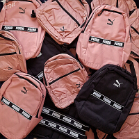 2019男女高中学生书包户外旅行背包樱花粉新款PUMA彪马双肩包