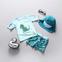儿童泳衣男童宝宝婴儿游泳衣小童游泳分体中童防晒冲浪服套装