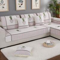 四季沙发垫布艺简约现代欧式防滑沙发巾套罩全盖包夏季通用坐垫子