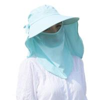 太阳帽夏季防晒运动帽大沿户外遮脸帽子遮阳帽女士沙滩帽