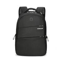 新款双肩背包商务电脑包休闲百搭旅行包中学生书包韩版休闲双肩包户外透气帆布背包 15寸