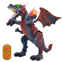 遥控电动恐龙玩具模型 会走路发声 早教智能三头龙儿童玩具 111-149 颜色随机