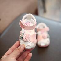 0-1-3岁女童公主鞋包头凉鞋夏季小孩宝宝鞋婴儿学步鞋软底鞋