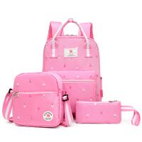 小学生书包女休闲学院风双肩包3-5年级儿童包包