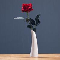 玫瑰花仿真花丝绢布假花花瓶配套酒店餐厅客厅桌面装饰品摆件创意