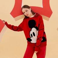 【1件5折到手价:254.5】MECITY女2020春季新款迪士尼米奇联名款圆领羊毛衫