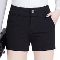短裤女春夏2017新款显瘦女裤黑色休闲西装短裤修身外穿打底女裤子