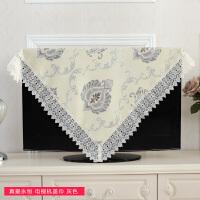 欧式电视机罩套盖布罩液晶挂式壁式曲面70 55 60寸正方形 真爱恒粉色