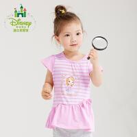 【99元3件】迪士尼Disney童装女夏季甜美短袖女宝上衣婴儿T恤162S795