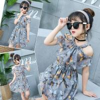 女童连衣裙夏装洋气韩版中大童儿童衣服夏季雪纺碎花裙子