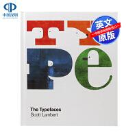 【深图】英文原版 Typefaces 字体设计 24个英文字母字体视觉创意艺术字体 艺术平面设计类绘画绘本书籍