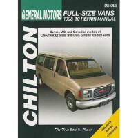【�A�】GM Full-Size Vans, 1998-10: Does Not Include Information