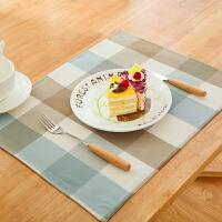 北欧小学生防水餐垫碗垫子隔热桌垫日式儿童餐布方巾布艺杯垫文艺 桌垫35*45cm