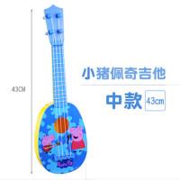小猪佩奇玩具佩佩猪粉红猪小妹尤克里里佩琪儿童节小吉他初学乐器
