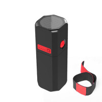 迷你灯强光手电筒 带手机电源10000毫安通用充电宝 黑红撞色