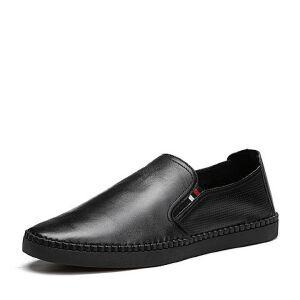 Tata/他她2018夏专柜同款牛皮打孔平底男皮鞋休闲鞋24G23BM8