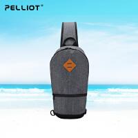 【保暖节-狂欢继续】法国PELLIOT运动单肩包男女 新款胸包多功能户外包斜挎手提运动包