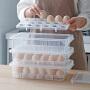 Tenma天马株式会社可叠加冰箱带盖鸡蛋收纳盒食物保鲜盒鸡蛋格鸭蛋盒鸡蛋盒蛋托