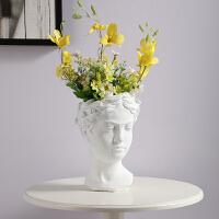 创意水泥花盆维纳斯女神雕像花插 复古艺术花瓶家居摆件 大