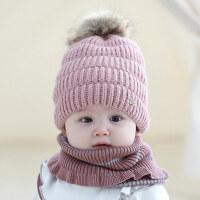 宝宝帽子秋冬0-3-6-12个月男女儿童毛线护耳帽1-3岁婴儿帽子冬天