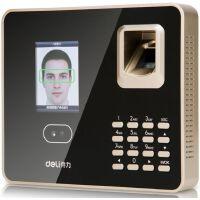 得力(deli)33155 面部指纹混合识别免软件考勤机 人脸识别+指纹识别+密码验证三合一智能打卡机(deli)33