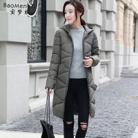 软妹冬季女装加厚外套反季棉衣女中长款韩版羽绒棉袄
