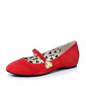 Belle/百丽2017秋季大英联名款简约舒适羊绒皮一字带低跟玛丽珍鞋BQH01CQ7