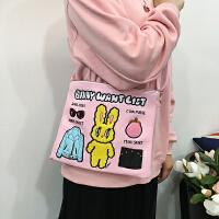 韩国韩版韩版百搭小清新日系时尚兔子斜挎包单肩包女包手拿包