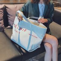 帆布包女单肩韩国日系 帆布包大容量手提包女 韩版