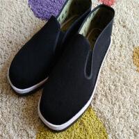 新年优惠【NEW】沂蒙传统手工老布厚轮胎底棉布工作防滑千层底 黑色
