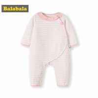 巴拉巴拉婴儿连体衣哈衣新生儿秋冬衣服宝宝睡衣加厚0-3个月保暖