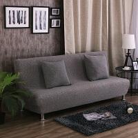 针织弹力沙发床套无扶手通用床笠式折叠沙发套罩布艺全包四季盖布