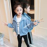 女童棒球服春秋装儿童夹克上衣宝宝外套女孩防风冲锋衣