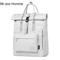 Mr.ace Homme纯色书包韩版日系ins双肩包防水旅行女大学生背包男
