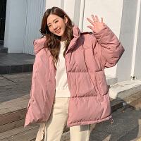 韩都衣舍2019冬装新款外套韩版宽松短款面包羽绒服