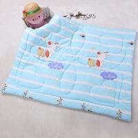 天天婴儿被子新生儿童棉被纯棉可机洗加厚春秋冬季幼儿园盖被 秋冬款110*130cm 蓝色小兔