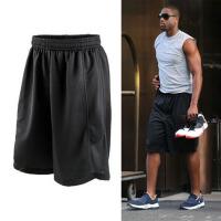 篮球裤运动裤韦德篮球短裤男运动短裤训练热身投篮速干跑步健身裤 黑色 带左右2个口袋 S(155-165)