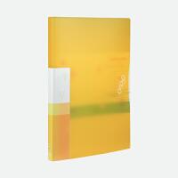金得利 AF1020 A4多彩单强力文件夹插袋资料整理夹 颜色随机单个售价