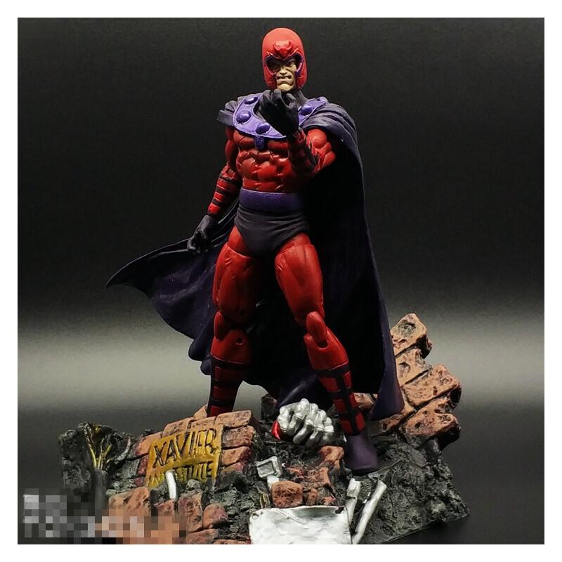 X战警万磁王金刚狼手办可动人偶玩具模型摆件死侍 漫威MARVEL