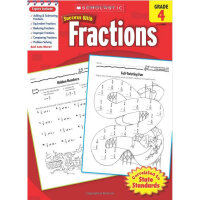 现货英文原版 Scholastic Success with Fractions, Grade 4 4级成功系列分数 学