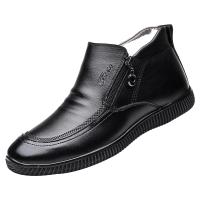 青年棉鞋男士休闲高帮皮鞋保暖加绒男棉皮鞋冬季男鞋二棉男潮