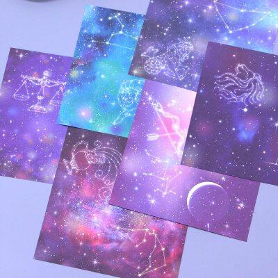 星空星座 双面印花宇宙手工折纸材料正方形千纸鹤儿童印花纹彩纸