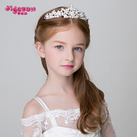 花童公主女孩王冠宝宝演出头饰 儿童皇冠发饰女童公主头饰发箍
